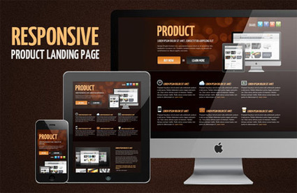 Product - Free Responsive Landing Page Template - Templatejedi   Web Template   Scoop.it