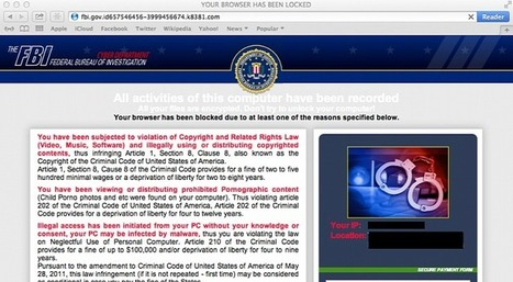 FBI Warns of Mac OS X Ransomware | Apple, Mac, MacOS, iOS4, iPad, iPhone and (in)security... | Scoop.it