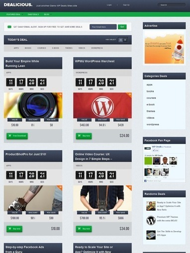 Dealicious WordPress Local Daily Deal Theme | Tips | Scoop.it