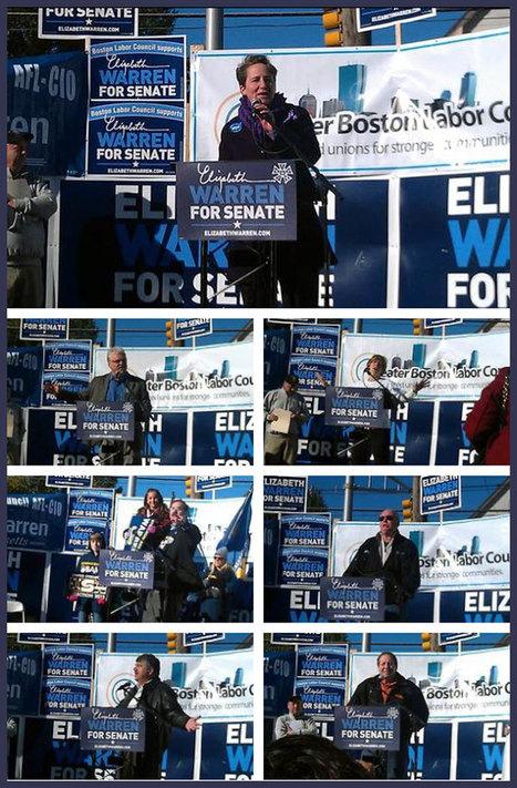 photo: Warren, Henry, Langford, Weingarten, Gerard, Tolman, Trumka & Mandarini in Malden | Massachusetts Senate Race 2012 | Scoop.it