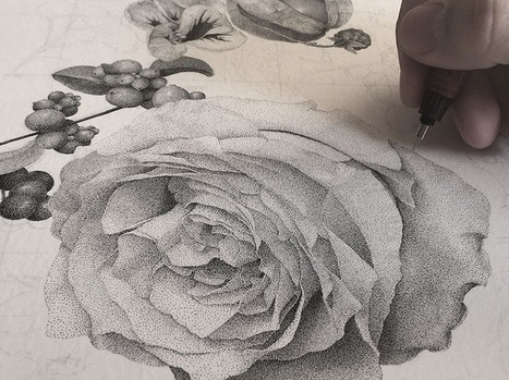 Artist Illustrates Amazingly Detailed Plant-life with Millions of Dots | Le It e Amo ✪ | Scoop.it