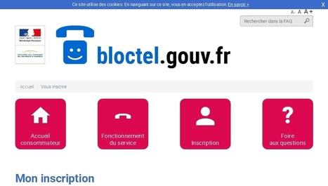 Bloctel pour vous opposer au démarchage téléphonique   Informatique   Scoop.it