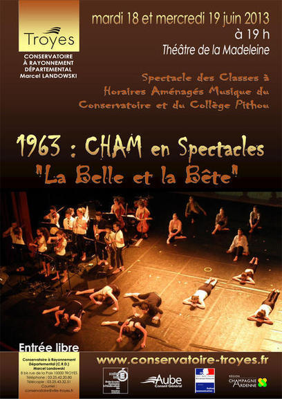 18 et 19 juin : spectacle CHAM - Site de la ville de Troyes | Collège PITHOU | Scoop.it