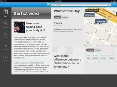 Best Free iPad App of the Week: Dictionary.com Dictionary & Thesaurus for iPad   iPad Insight   iPads, MakerEd and More  in Education   Scoop.it