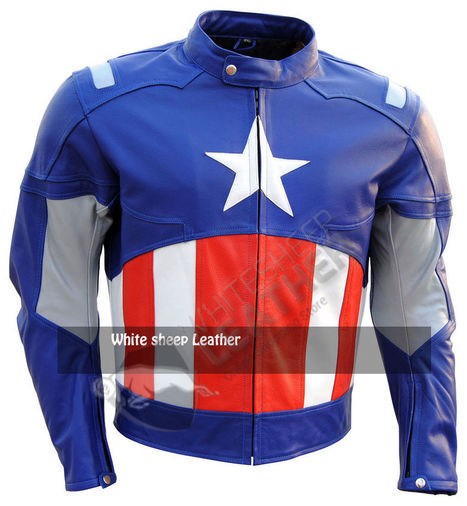 Captain America First Avengers Genuine Cowhide Fashion Leather jacket all sizes | movie leather jackets | Scoop.it