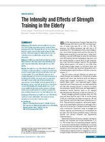 The Intensity and Effects of Strength Training in the Elderly (27.05.2011) | Personal Training | Scoop.it