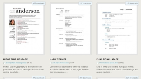 Download 275 Free Resume Templates for Microsoft Word | Higher Education and more... | Scoop.it