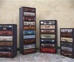 Vintage Charm Captured in a Metal Framework: Suitcase Drawers | InteriorDesign | Scoop.it