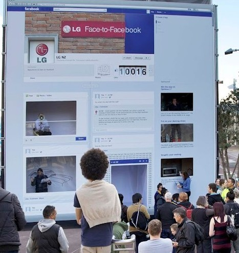 Nouvelle Zélande : LG construit un mur Facebook grandeur nature | The future of work and collaboration | Scoop.it