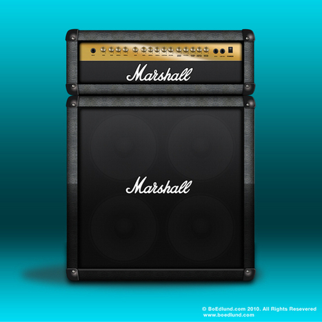 FREE PSD - Marshall Stack Amp | G-Tips: Design Ressources | Scoop.it