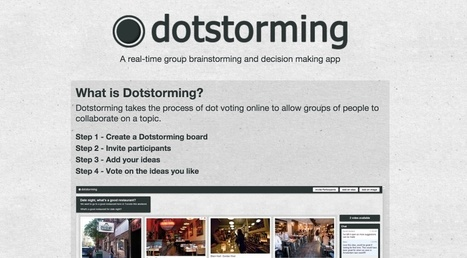 Dotstorming. Créer un brainstorming en ligne | Education et TICE | Scoop.it
