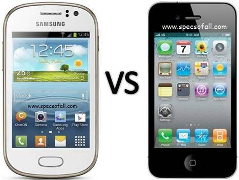 Compare Samsung Galaxy Fame vs Apple iPhone 4 | Specifications of Smartphones | Scoop.it