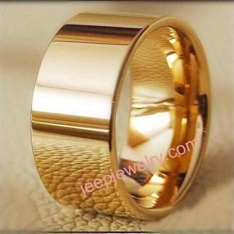 Wholesale Tungsten gold ring man ring female forefinger couple ring - $ 12.90 : Tungsten Rings Tungsten Jewelry | How to choose an ideal jewelry for your lover | Scoop.it