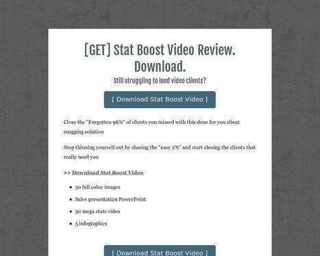 [GET] Stat Boost Video Review. Download. - Tackk | seo | Scoop.it