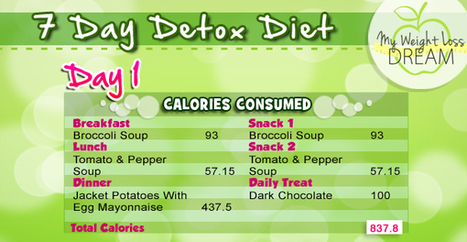 7 Day Detox Diet – My 7 Day DIY Detox System Revealed | My Weight Loss Dream | Weight Loss News | Scoop.it
