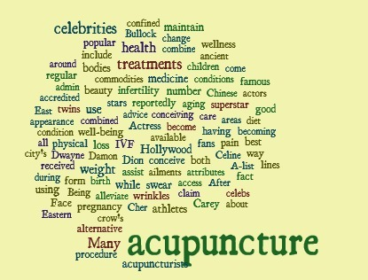 Celebrities that Use Acupuncture | Acupuncture News | Scoop.it