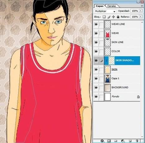 Photoshop tutorial: New tricks for vector portraits | Photoshop Tutorial | Scoop.it