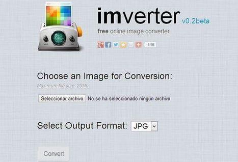 Imverter, utilidad web gratuita para convertir entre formatos de imagen | Tic, Tac... y un poquito más | Scoop.it