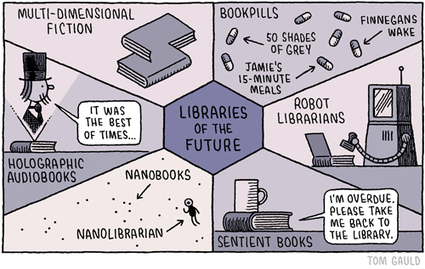 Libraries of the future [cartoon] | Online Media Strategist | Scoop.it
