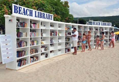 Livreria na praia em Bulgaria | Livro livre | Scoop.it