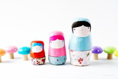 MAKE | How-To: DIY Nesting Dolls | Kokeshi Doll | Scoop.it