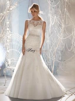 Cheap Chapel Train Applique Trumpet/Mermaid Wedding Dresses Sale at Amydress.co.uk | amydress | Scoop.it