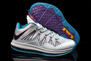 LeBron X 10 Low Tops Akron Aeros In Silver Teal Colorways | new and popular list | Scoop.it
