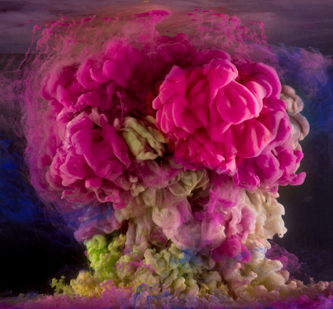 Photographs of paint mixing in water by Kim Keever | arte y artistas | Scoop.it