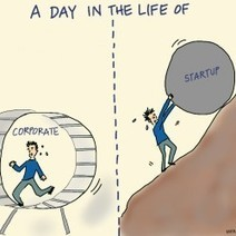 A Day in the Life of: Corporate vs Startup | Visual.ly | Technology and Leadership | Scoop.it