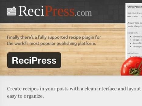 Wordpress : mettre en forme vos recettes de cuisine avec Recipress | Fredzone | SocialWebBusiness | Scoop.it