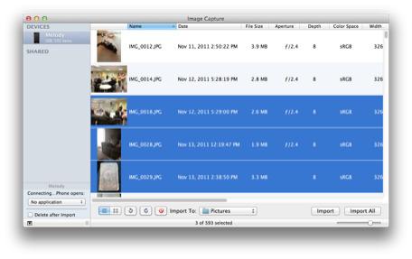 Mac 101: Use Image Capture to clear off old iPhone pictures #HDSLRscoop | Filmmaking & Filmmakers | Scoop.it