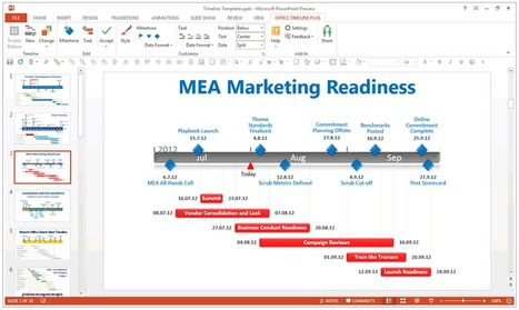 Create Professional Timelines in PowerPoint with Just a Few Clicks!  Free Add-in.   Time to Learn   Scoop.it