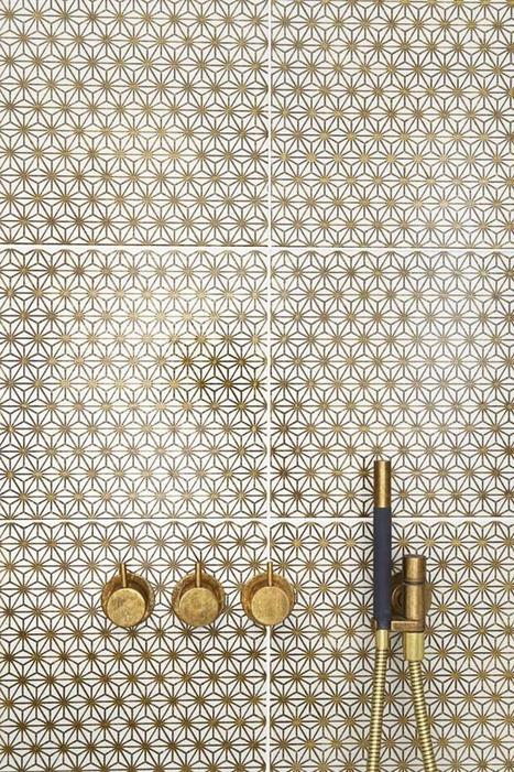 Gold Tiles and Shower Fixtures | All About Bathroom Remodel | Scoop.it