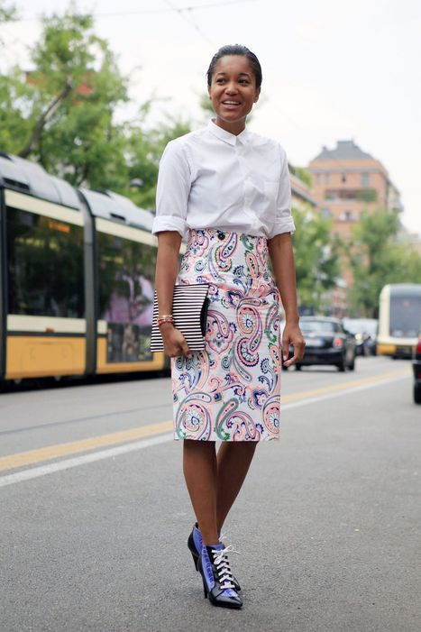 Work a pattern skirt in tonight's #officeoutfit | special scoops | Scoop.it