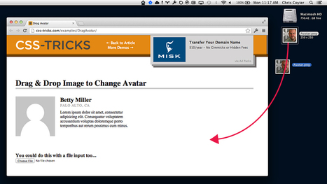 HTML5 Drag and Drop Avatar Changer with Resizing and Cropping | CSS-Tricks | HTML5 News | Scoop.it
