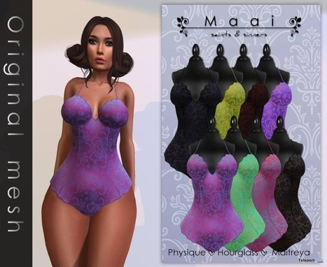 Wild Night Romper Pink Color Group Gift by MAAI | Teleport Hub - Second Life Freebies | Second Life Freebies | Scoop.it