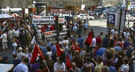 Los trabajadores de Indra protestan en Madrid contra los despidos | laboral | Scoop.it