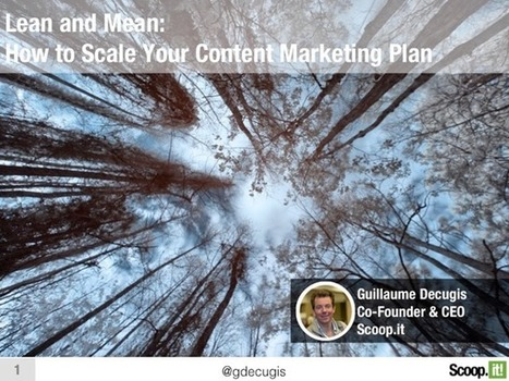 Lean and Mean: How to Scale Your Content Marketing Plan | Social Media Useful Info | Scoop.it