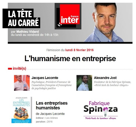 L'humanisme en entreprise / France Inter | Work and Joy© | Scoop.it