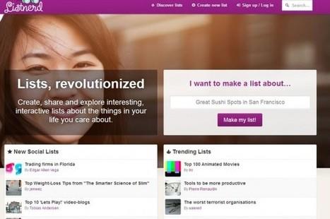 Listnerd, nuevo proyecto para crear listas entre varias personas | Educación a Distancia y TIC | Scoop.it