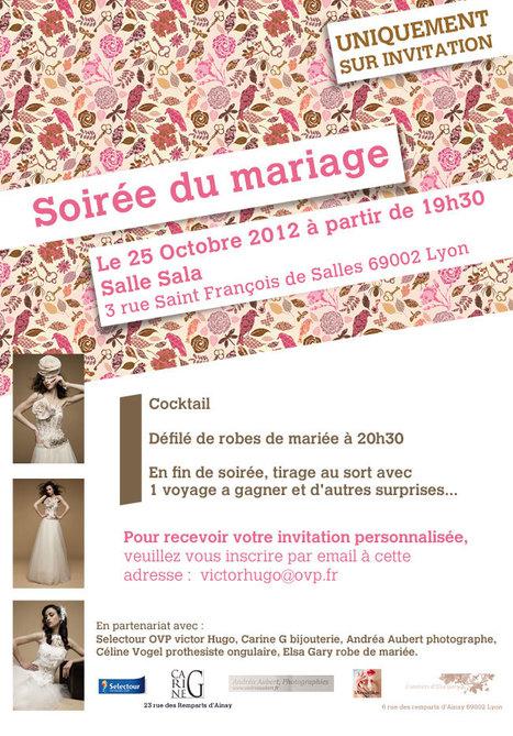 Evénement: votre Invitation gratuite pour la Soirée du Mariage à Lyon le 25 octobre prochain | Scoop Photography | Scoop.it