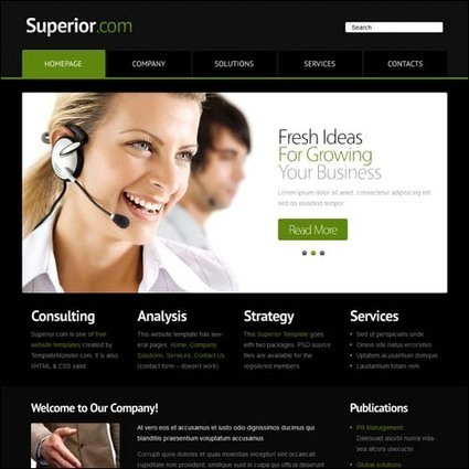125+ Free Responsive HTML5 CSS3 Website Templates | HTML5 Javascript CSS3 | Scoop.it