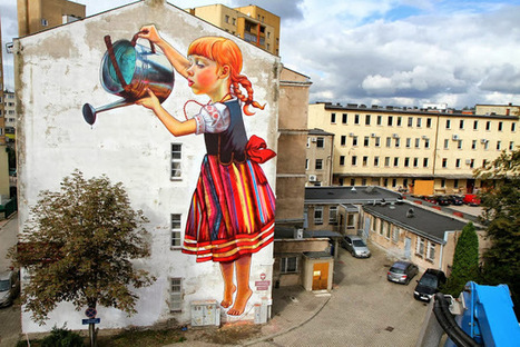The Legend of Giants: A New Mural by Natalia Rak   Colossal   Suburban Land Trusts   Scoop.it