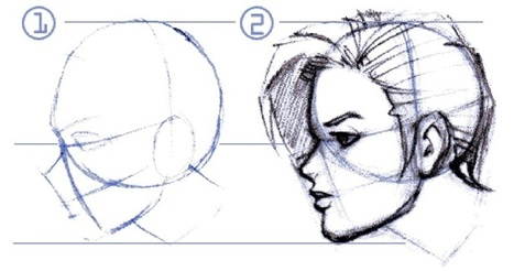 Dessin Manga: pas à pas (leçon 2) | Hasnae | dessin | Scoop.it