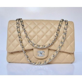 Chanel 2.55 Bag 47600 Apricot Lambskin With Silver Chain Perfect present | Chanel Handbags Outlet Online | Scoop.it