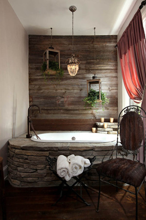 Bathroom Design With Natural Stones | 2012 Interior Design, Living Room Ideas, Home Design | Scoop.it