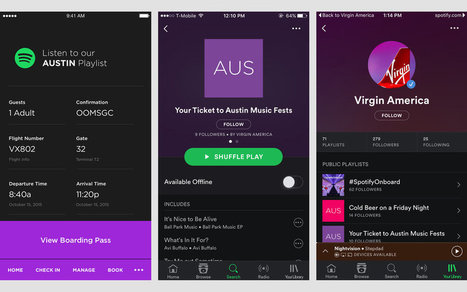Virgin America's app lets you stream city-themed Spotify playlists | audio branding | Scoop.it