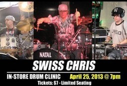 Swiss Chris Drum Clinic at LIDC | DRUMS NEWS BY ZACK | Scoop.it