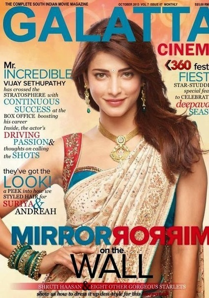 Shruti Hassan On The Magazine Cover - Galatta October 2013 - 99share.in | Photoshoot | Scoop.it