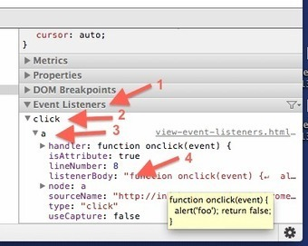 How to use chrome developer tools to view event handlers - InfoHeap | Chrome DevTools | Scoop.it